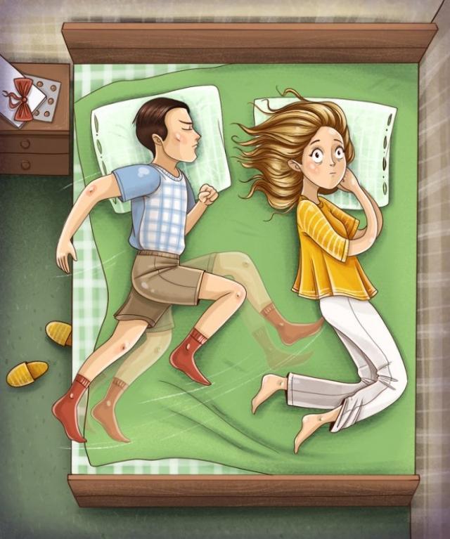 Самые лучшие и самые худшие позы для сна для влюблённых пар | 767x640