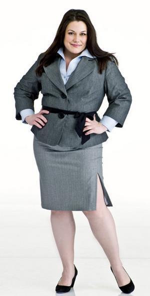 Модная одежда для полных женщин (17 фото