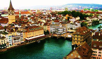 Цюрих назван самым дорогим городом мира