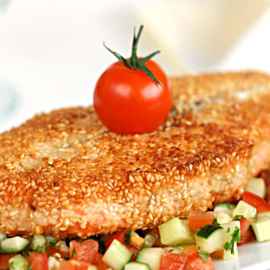 Рыбное меню четверга: котлеты, жареное филе в кунжуте и рыба на пару