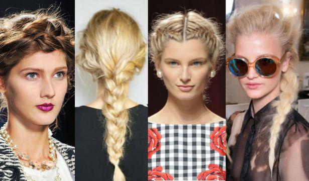 модные прически с косами в 2017