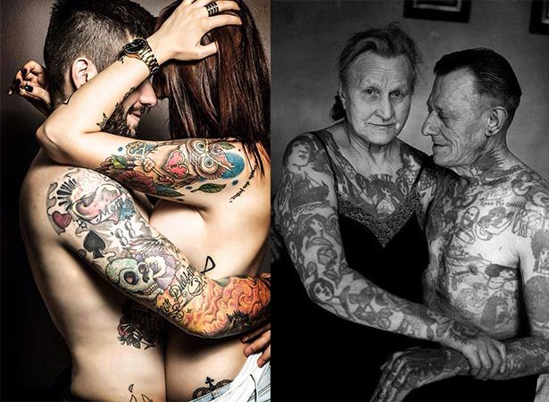 Татуировка на теле жены