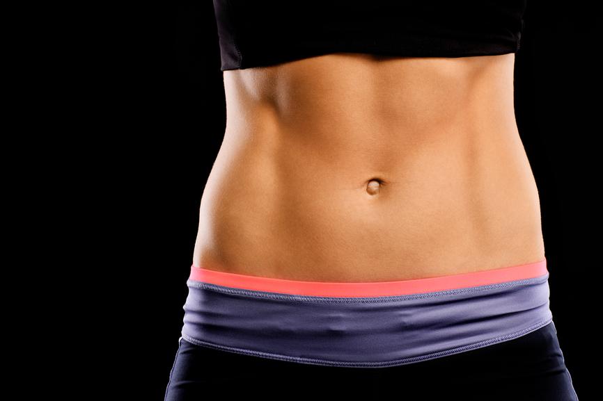 убрать жир с живота срочно