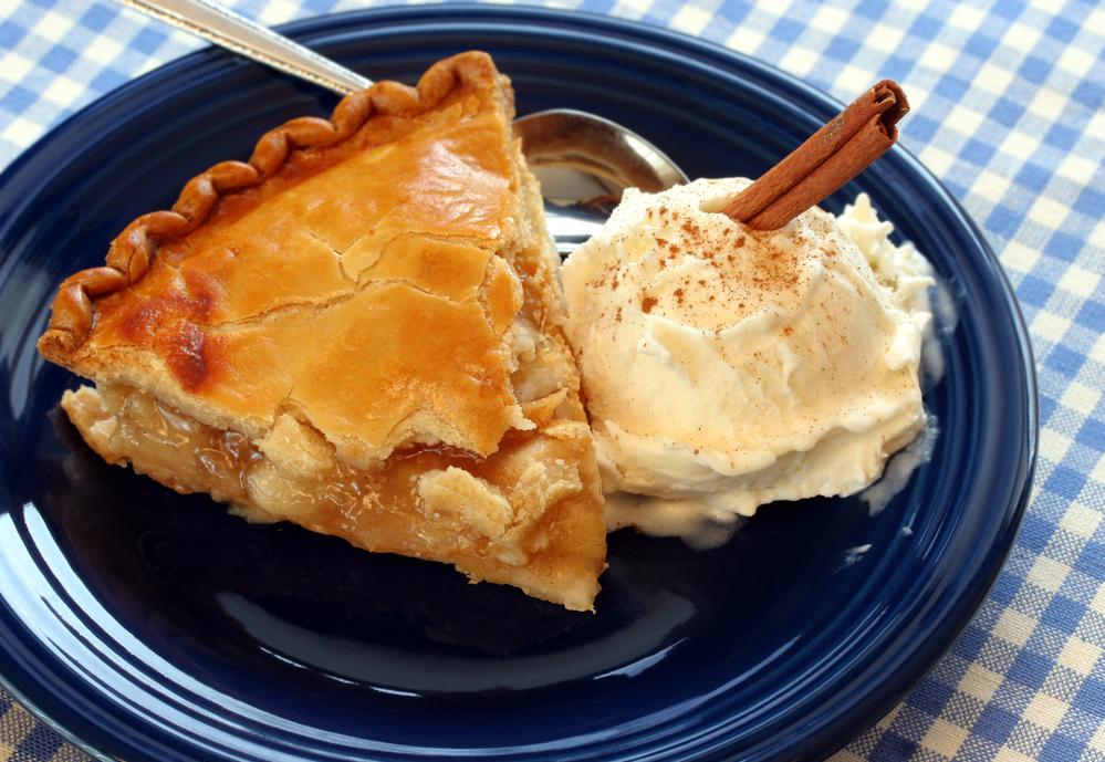 Яблочный пирог с мороженым рецепт