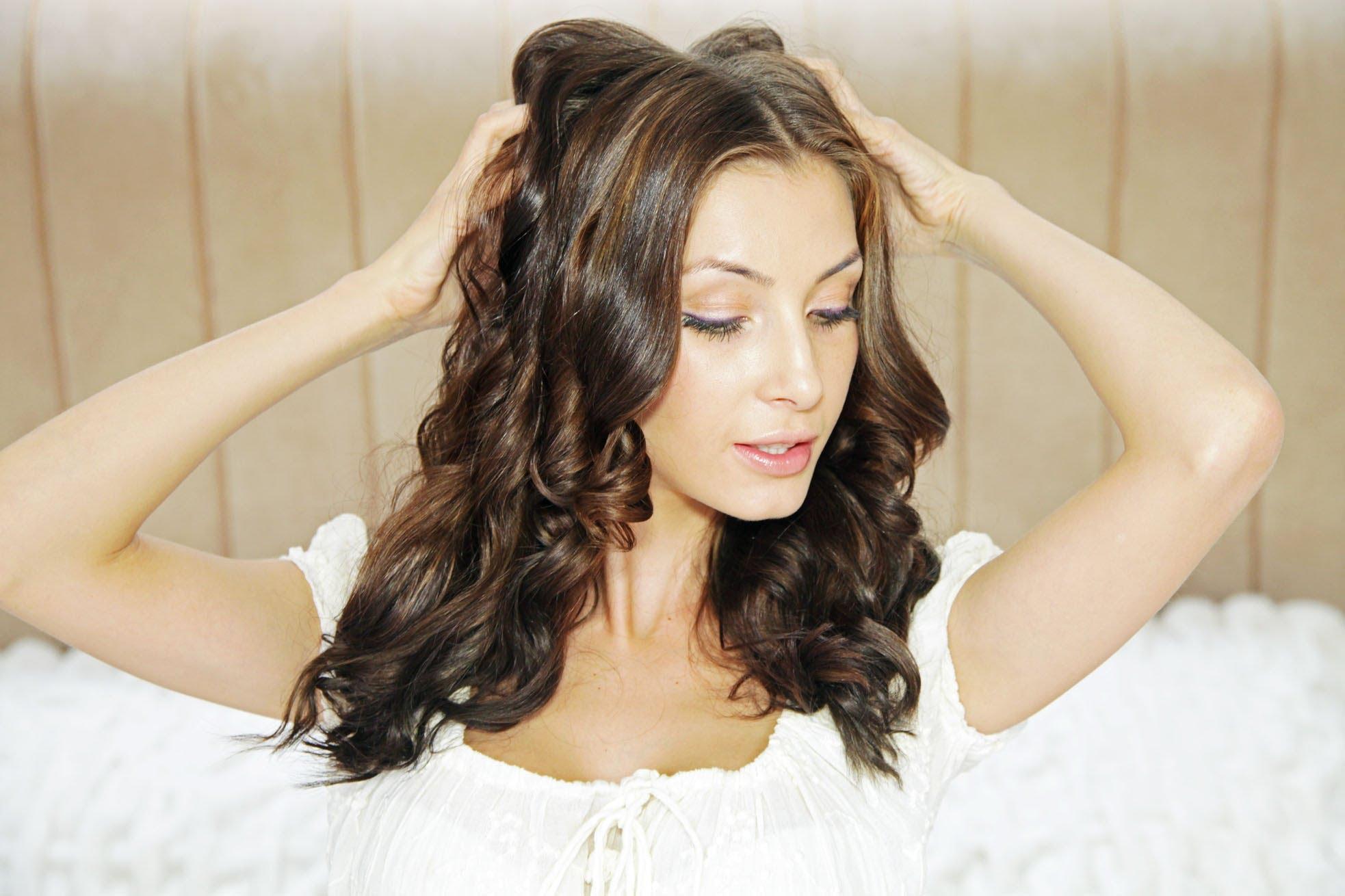 Кудри щипцами для завивки волос 131