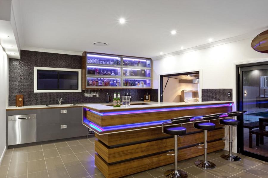 Фото кухни с бар стойкой дизайн