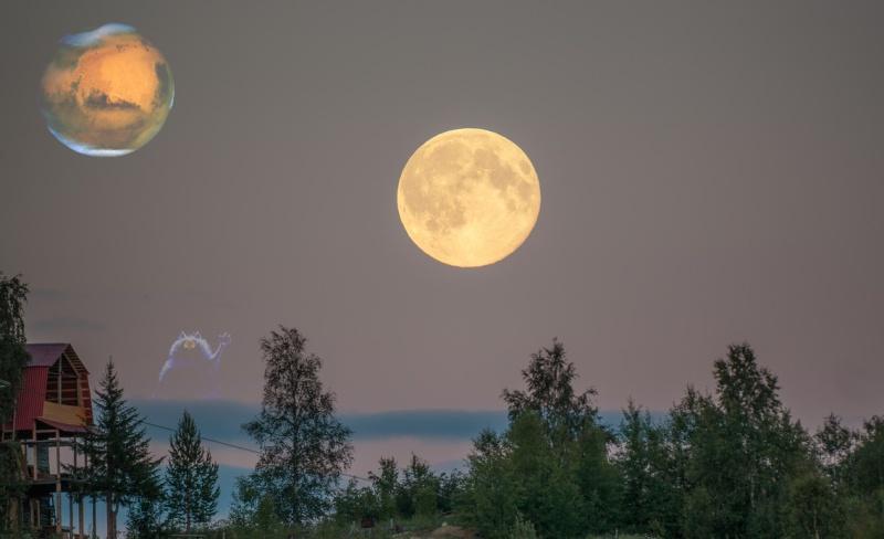 на небе 2 луны фото