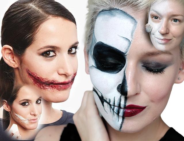 гримм на лицо хэллоуин