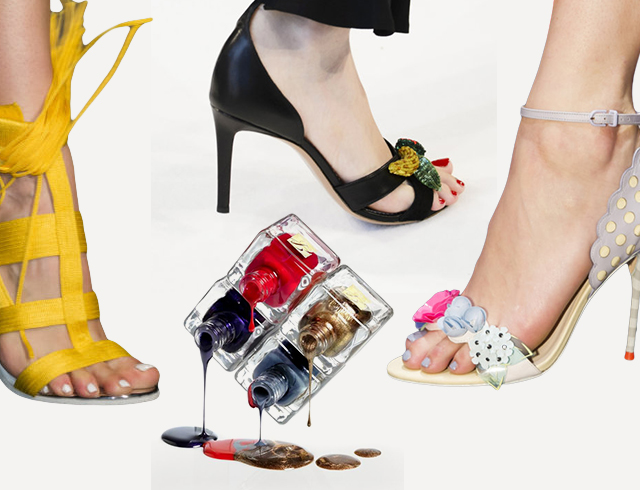 Модные туфли и маникюр