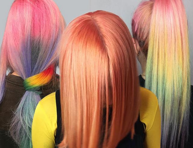 Окрашивание волос сухой краской
