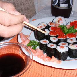 Как приготовить домашние суши