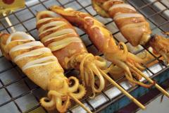 Кальмары фаршированные сыром (Блюдо арабской кухни)