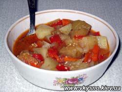 Консоме из помидоров и картофеля
