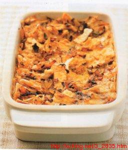 Бабка с грибами из мацы (блюдо еврейской кухни)