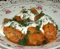 Голубцы из молодой капусты в томатном соке