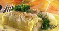 Голубцы из капусты и лука-порея с рисом