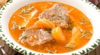 Говяжий суп с курагой (блюдо армянской кухни)