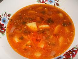 Суп-пюре из сладкого картофеля (батата) и чечевицы