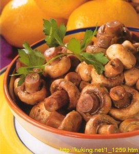 Чесночные грибы с чили