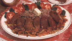 Печенка шпигованная (блюдо туркменской кухни)