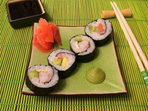 Суши Тидори, с морским судаком