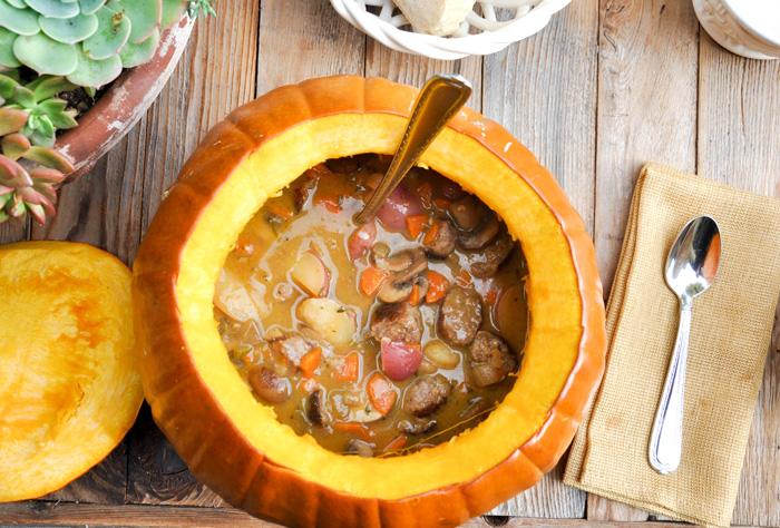 Тыквенное рагу: рецепт богатого овощного блюда с добавлением грибов - фото №1