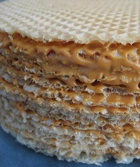 торт из коржей вафельных со сгущенкой рецепт с фото