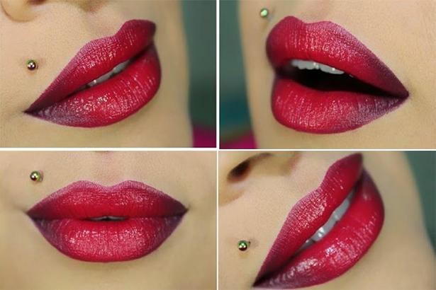 Эро видео с накрашенными губами в красный цвет фото 51-602