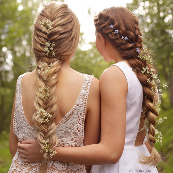 плетение косы на длинные и средние волосы