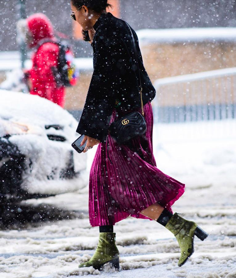 Streetstyle на Неделе моды в Нью-Йорке