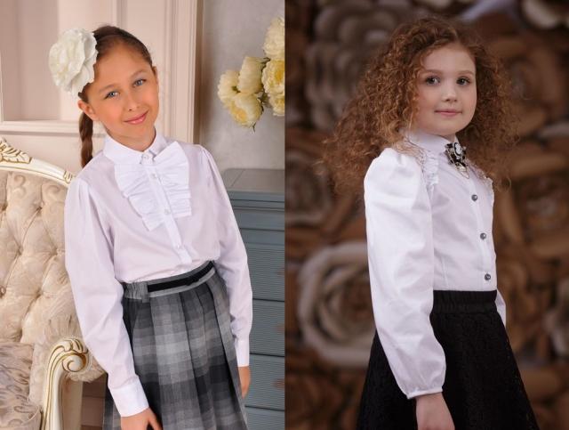 Блузки школьные для девочек