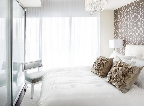 дизайн спальни в белом цвете идеи