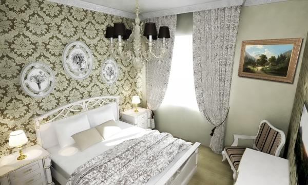 классический стиль спальни 2016