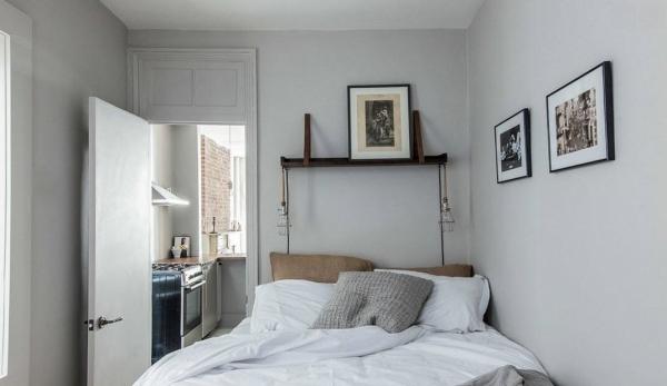 спальня в стиле лофт фото 2016