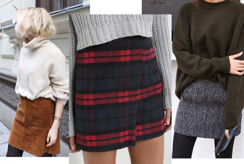 мини-юбки на зиму