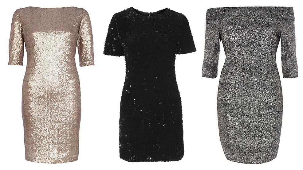 Блестящие серое платье