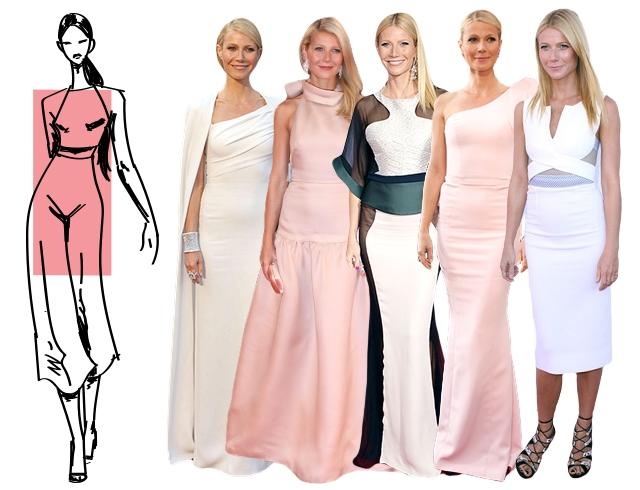 Платье по типу фигуры прямоугольник