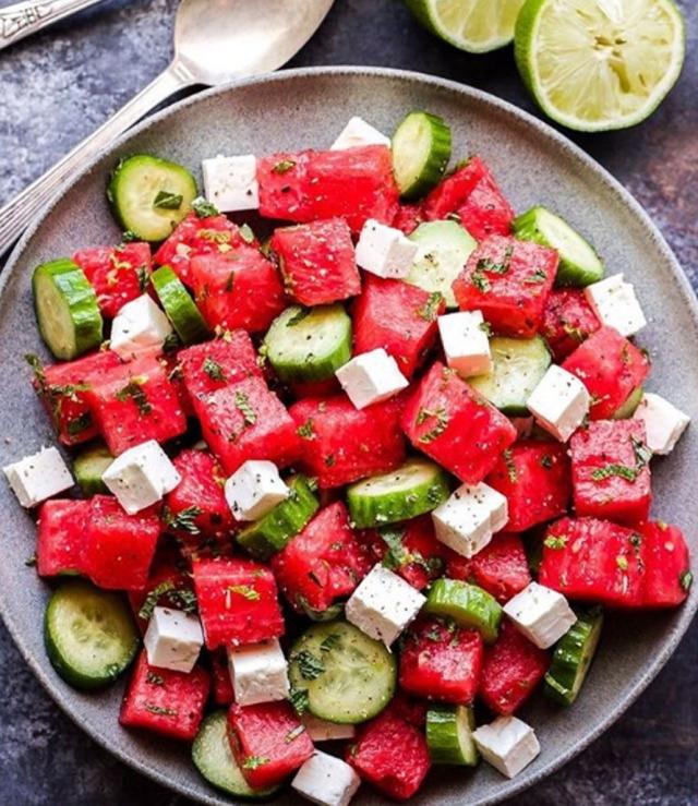 салат с фетой и арбузом рецепт
