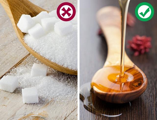 мед вместо сахара