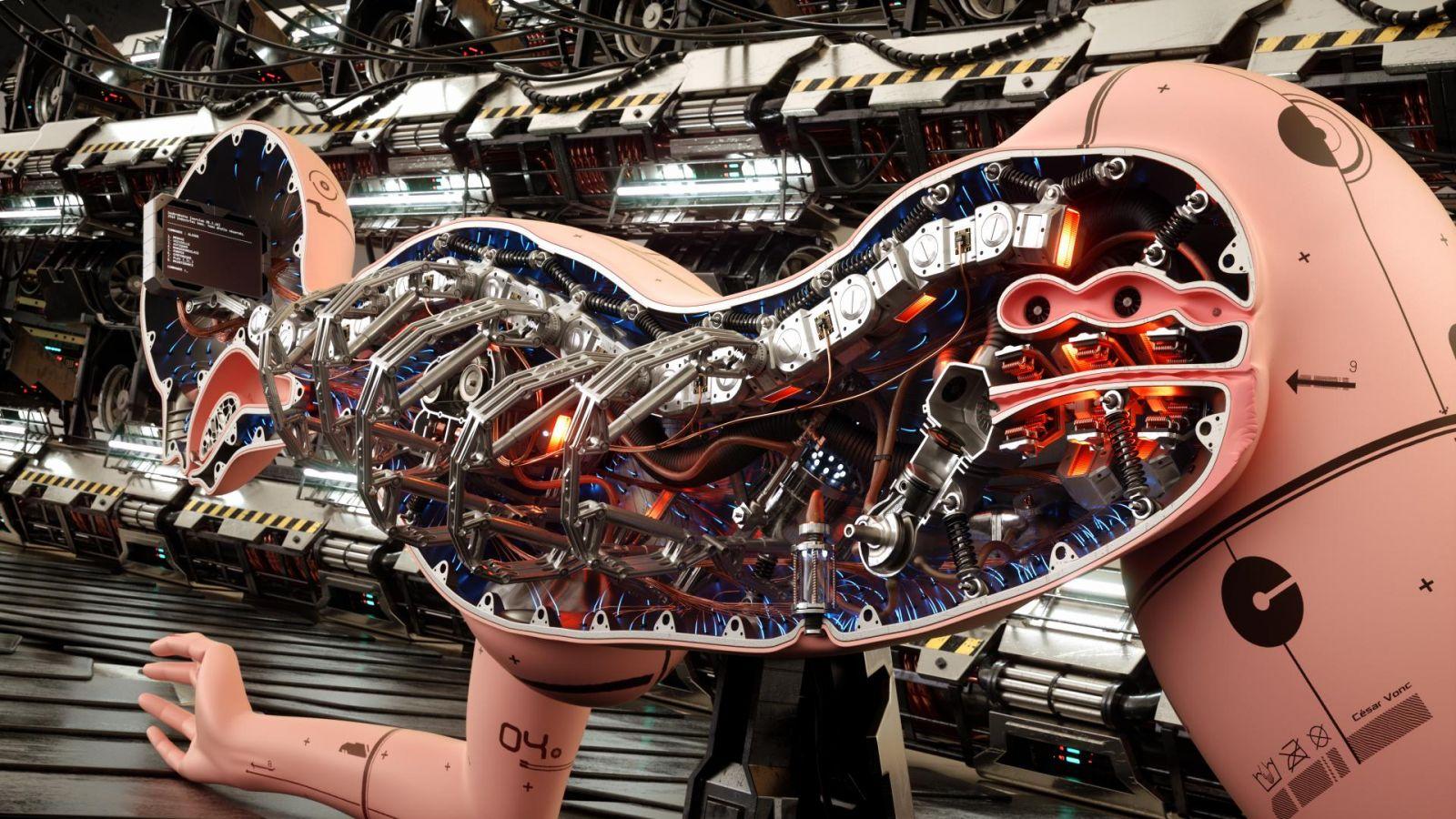Секс с роботом машиной 3 фотография