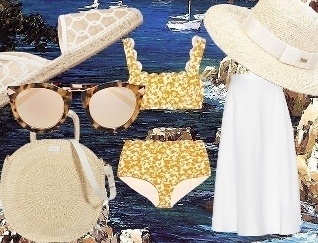 Как стильно выглядеть на пляже этим летом: три модных образа на выходные