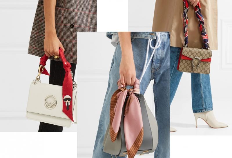 шейный платок на сумке