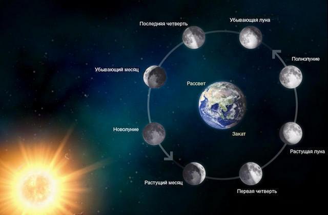 Лунные циклы в августе 2016