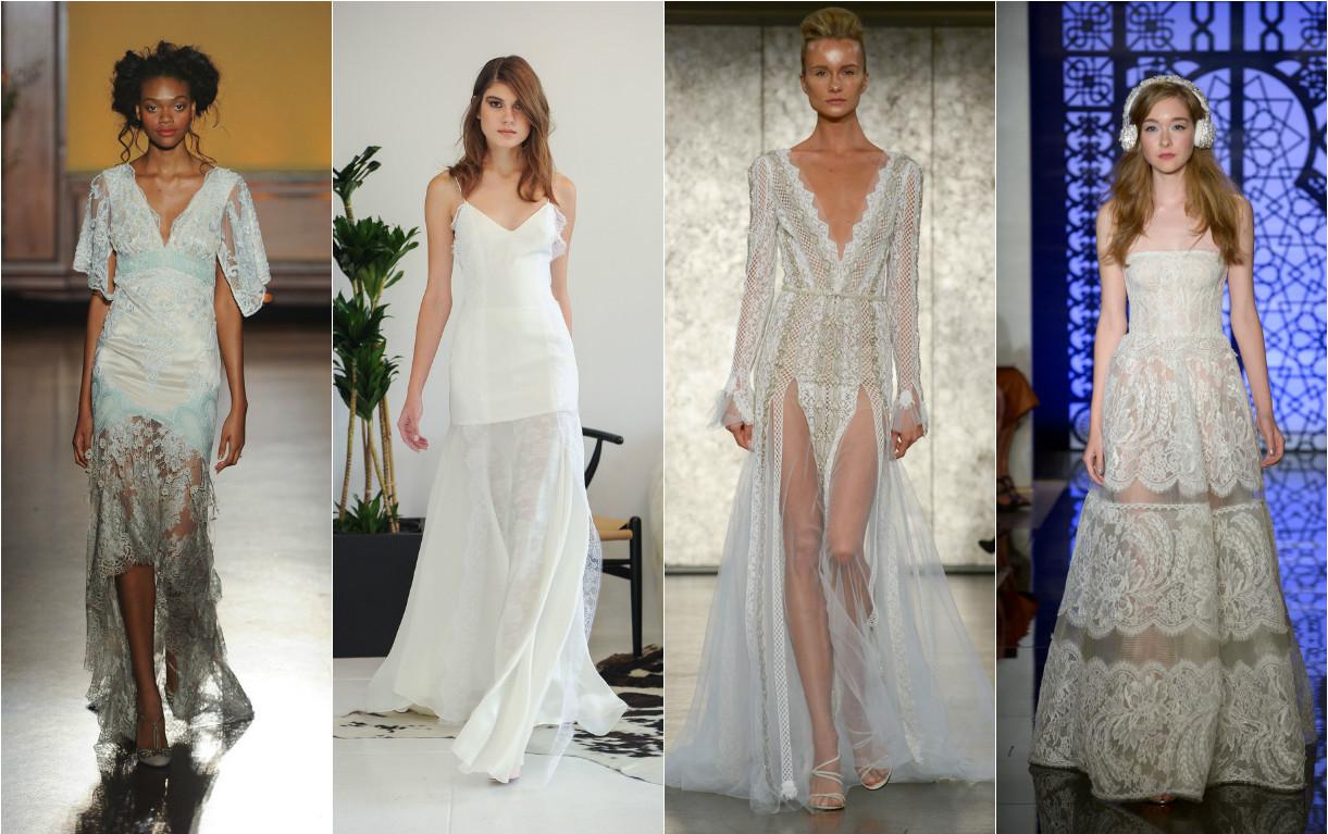 Платье с прозрачной кружевной юбкой
