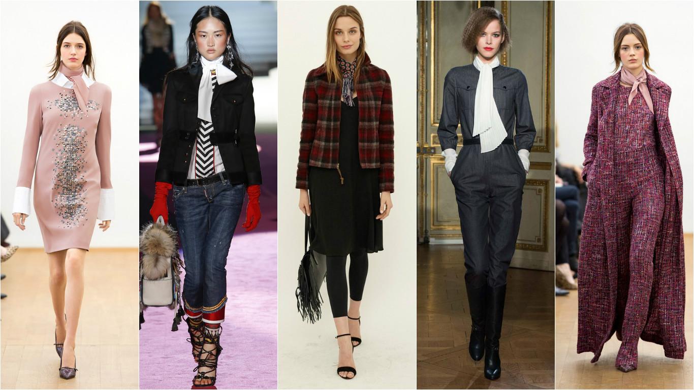 Модная одежда с шарфами