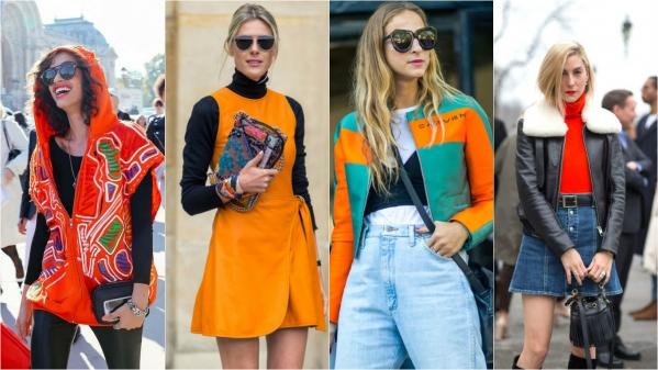 оранжевый тренд в моде