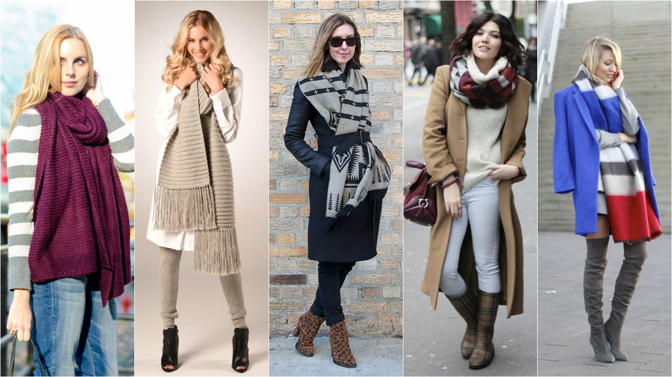 Модные шарфы 2016 своими руками