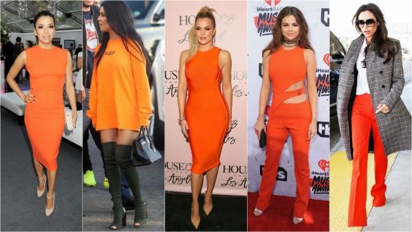 оранжевая мода в одежде