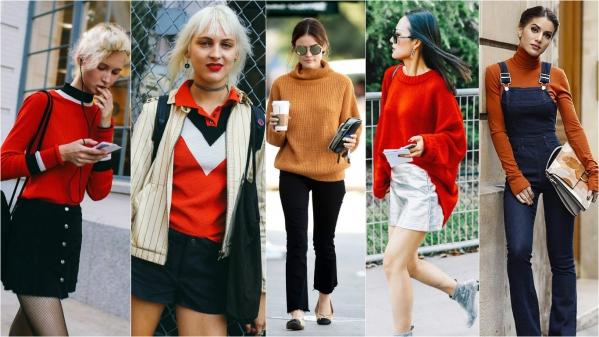 оранжевый цвет в одежде 2016