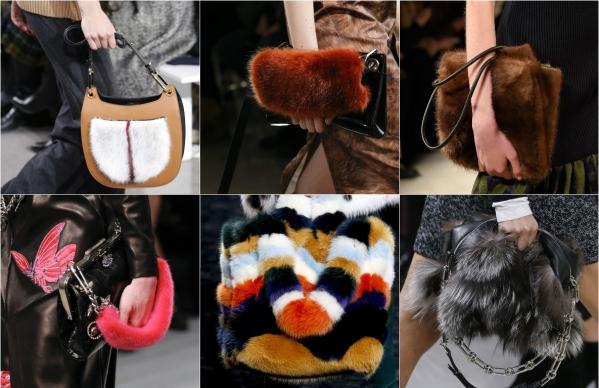 модные меховые сумки 2017 зима фото новинки